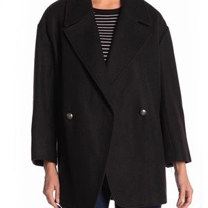 NVLT Solid Double-Breasted Pea Coat